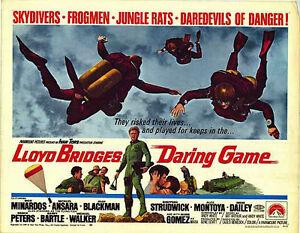 SCUBA DIVING/ PARACHUTING orig 22x28 1968 SKY DIVING movie