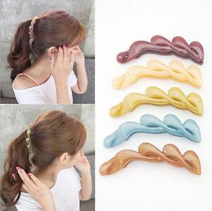 Fashion-Banana-Fish-Women-Hair-Clips-Hair-Accessory-Transparent-Ponytail-Holder
