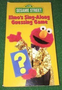 ELMO-039-S-SING-ALONG-GUESSING-GAME-VHS-SESAME-STREET-FREE-DVD