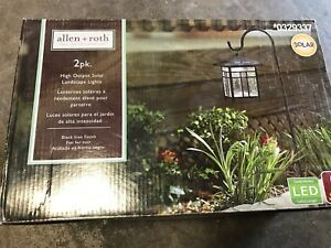 Allenroth 0329337 black high output solar landscape lights 2 pack allen roth 0329337 black high output solar landscape aloadofball Choice Image