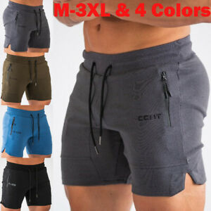 Men-039-s-GYM-Training-Running-Sport-Workout-Casual-Jogging-Pants-Trousers-Shorts
