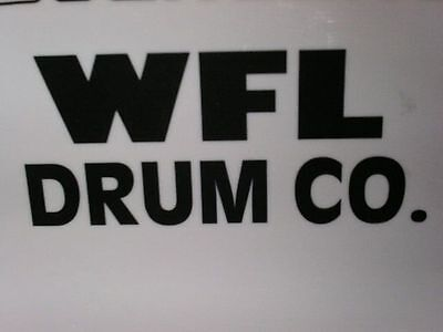 WFL White Vintage Logo Replacement Sticker Decal Hi Quality 3M Vinyl!