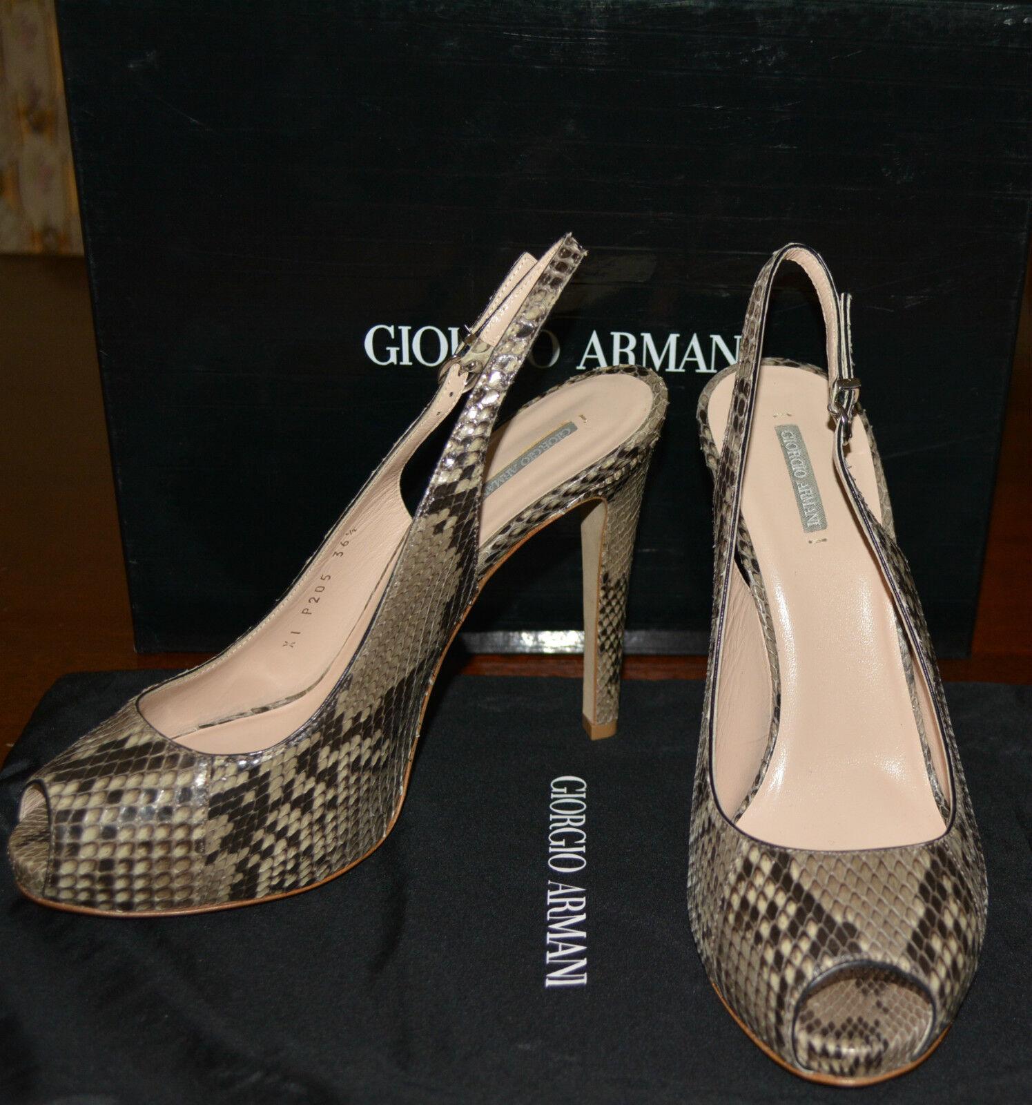 NIB GIORGIO ARMANI PYTHON LEATHER PUMPS Zapatos Zapatos Zapatos SZ US 7 MADE IN ITALY a72497