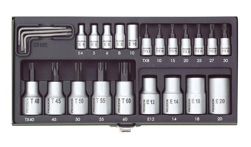 PROXXON 23102 SERIE SPECIALE BUSSOLE TX 23 PEZZI