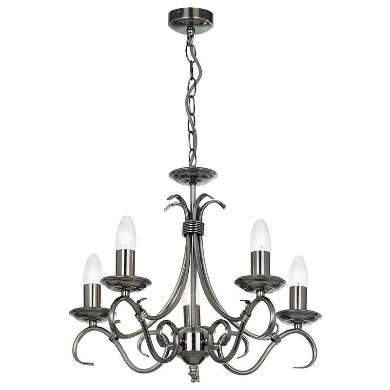 Endon Endon Endon Lighting Bernice 5lt Pendentif 60 W-antique S 2030-5AS | Sale  5a9637