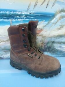 2c01c6e9b6f Details about WOLVERINE Mens 8.5 Leather Work BOOTS Brown