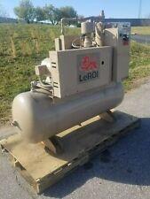 Used 15 Hp Leroi Open 80 Gallon Rotary Air Compressor 230460 Volt