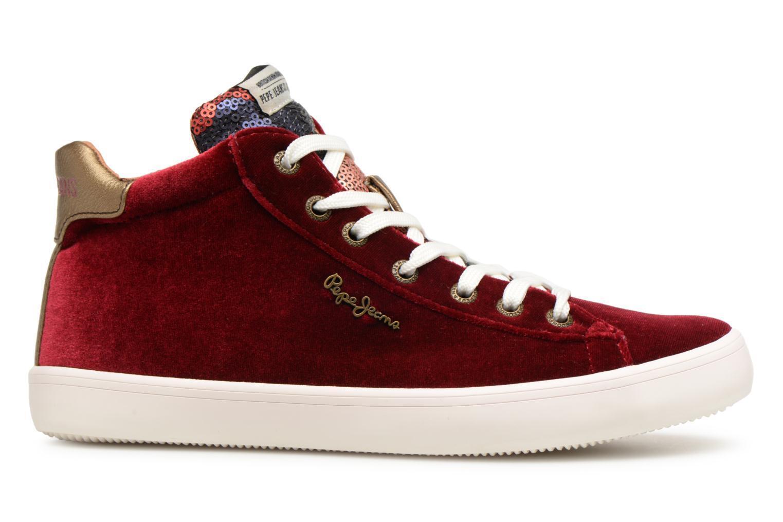 Damen Pepe Jeans Jeans Pepe Stark Sequins Sneaker Weinrot 1420d1