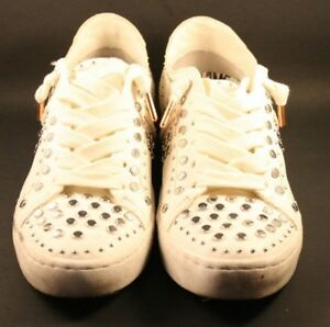 Dolce Vita White Leather Studded