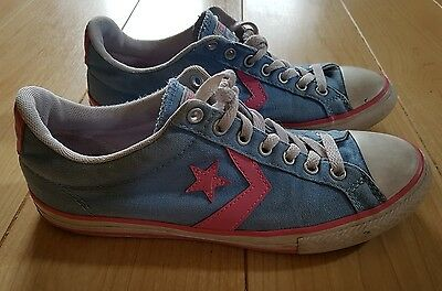 Converse Zapatillas. UK Size 5. Color de Rosa y Azul Lona. RRP £ 45.