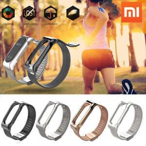 Fuer-Xiaomi-Mi-Band-2-Luxus-Handgelenkschlaufe-Edelstahl-Metall-Armband