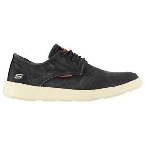 Skechers-Men-039-s-Shoes-UK-Size-9-Smart-Black-EUR-43