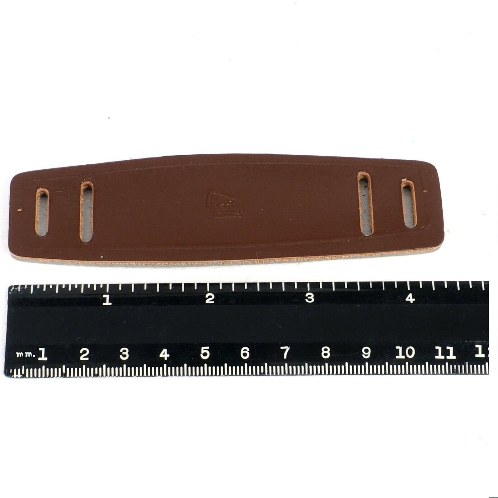 ^ NOS Perrin Brown Supple Leather Neck Strap Pads for Cameras, Binoculars etc!