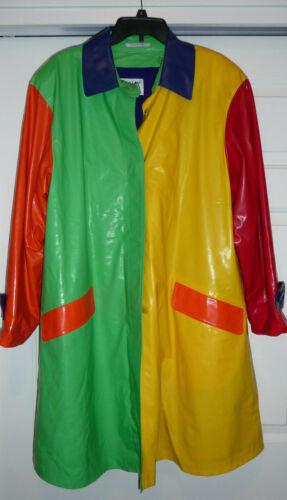 1970s Bill Blass primary colored raincoat
