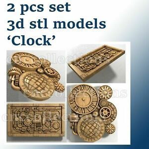2 pcs set 3d stl model for CNC Router Artcam Aspire