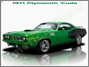 LARGE SIZE 12X16 Free Shipping Barracuda New Metal Sign 1971 Plymouth /'Cuda