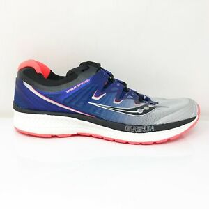 Saucony Mens Triumph ISO 4 S20413-35 Silver Blue Running Shoes Lace Up Size 8.5