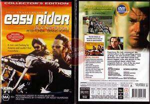 EASY-RIDER-Jack-Nicholson-Peter-Fonda-bikers-NEW-DVD-R4-Region-4-Australia