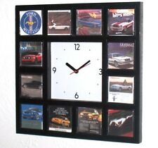 History of classic Ford Mustang Ads Garage Man Cave Clock with 12 pictures