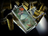 Haunted Mansion Ballerina Skeleton Ghost Silver Gothic Horror Pendant Necklace