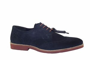 RedTape-Brickhill-Tan-Navy-leather-suede-laced-brogue-shoe-Formal-Smart-Office
