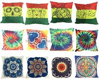 Us Seller - Wholesale 12pcs Rasta Tie Dye Mandala Sofa Pillow Cover
