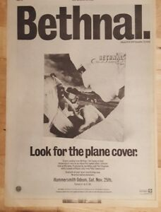 Bethnal-Crash-Landing-1978-press-advert-Full-page-28-x-39-cm-poster