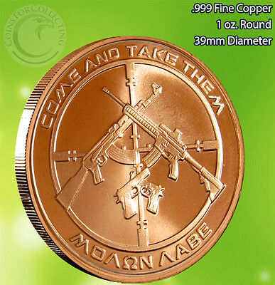 """5 Rounds /""""2013 Enemy Unknown/"""" 1oz .999 Copper Round Limited /& Rare"""