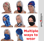 thumbnail 4 - Oxford Comfy Masks Neck Tube x 3 pack Motorcycle Scarf Face Mask Skull Scary