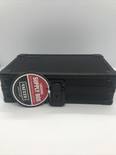 "Vaults Locking Supply Box Tactical Black With Keys New  8.25 "" X 5.50 ""X 2.50 """