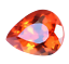 thumbnail 4 - Flawless 4.90 Ct Natural Fire Orange Sapphire CERTIFIED Pear Sparkling Gemstone