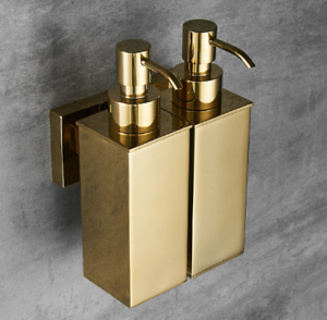 Gold Liquid Soap Dispenser Wall Mounted Stainless Steel 304 Shower Soap Pump New Ebay