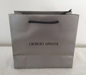 e4bb25415 Image is loading Armani-Paper-Gift-Bag-Shopping-Bags-Giorgio-Textured-