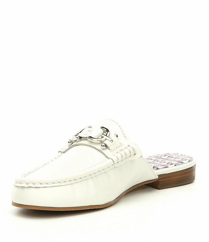 Donald Bit Pliner Sylvi Bit Donald Ornament Block Heel Mules Weiß/Bone Größe 8 New 24d7e8