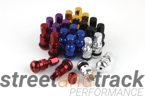 4x Aluminium Felgen Metall Ventile eloxiert tire valves farbig-Gold