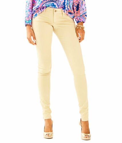 NWT $158 SAND BAR TAN LILLY PULITZER WORTH SKINNY JEANS