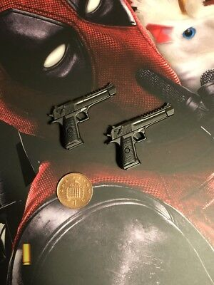 Hot Toys Dead Pool 2 MMS490 Desert Eagle Pistols x 2 loose 1//6th scale