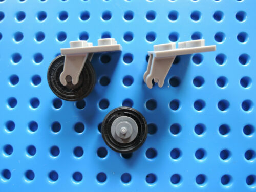 Lego 2 x Flugzeug Achse 2415c01 hellgrau 2x2 Reifen Felge dunkelgrau 76032 70605