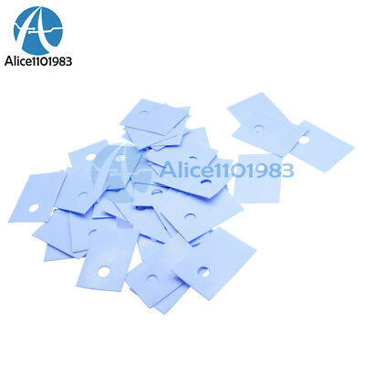 1000PCS TO-220 Insulation Pads Silicone Heatsink Shim for Laptop CPU GPU NEW T9
