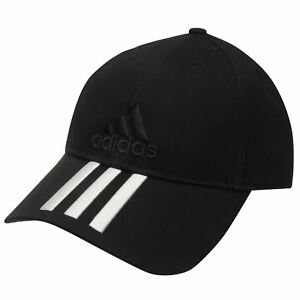 5ad38b4c89a NEW UNISEX Adidas Performance 3 Stripes Training Cap Hat Black white ...