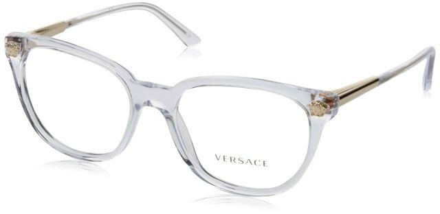Versace VE 3242A 148 Transparent Plastic Round Eyeglasses 54mm