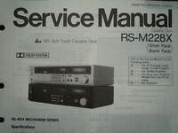 TECHNICS RS-M228X Cassette Tape Deck Service manual wiring parts diagram RS-M24