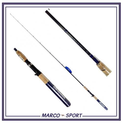 Canna da pesca in carbonio Okuma bait casting per lancio rod spinning black bass
