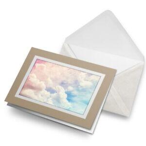 Greetings-Card-Biege-Pretty-Blue-Sky-Pink-Clouds-2745