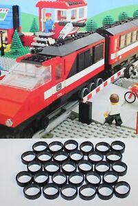 LEGO-7725-Lego<wbr/>, Eisenbahn, 30 Stück Haftreifen,sch<wbr/>warz, extra dünn-7725