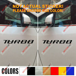2 x pick size color Turbo inside Boosted Decal Sticker Car Vinyl die cut