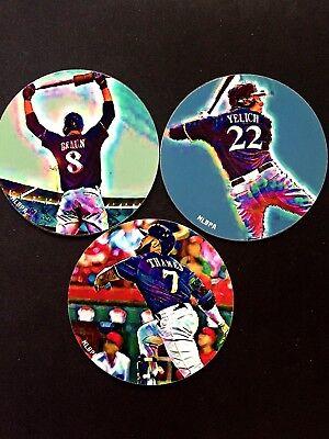 Yelich & Thames-fan Fav's Klar Und Unverwechselbar 3 -braun Hingebungsvoll Milwaukee Brewers Magnets-collectibles-