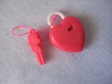 SANRIO HELLO KITTY TRINKET ORNAMENT HEART LOCK KEY VINTAGE 1976/1986 NEW