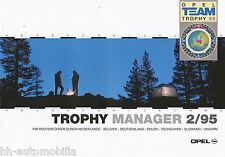 Prospekt Opel Team Trophy Runde 2/95 Manager brochure 1995 Auto PKWs Deutschland