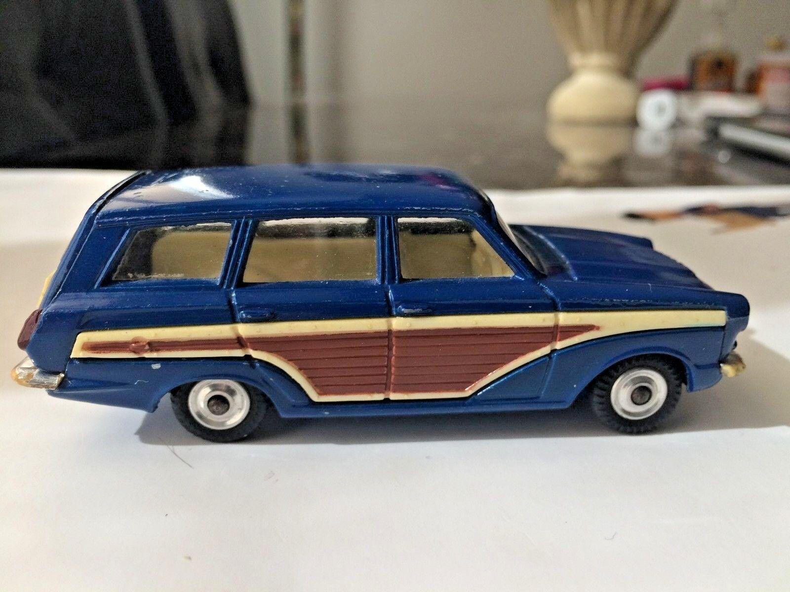 Corgi 440 Ford Cónsul Cortina. gris Woody. Excelente Plus. completa. Vintage